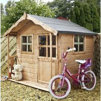 5X5 Poppy Wooden Playhouse with Base with Assembly Service