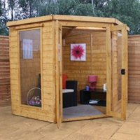7X7 Shiplap Timber Summerhouse with Assembly Service