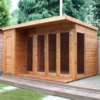 12x8 Combi Garden room Shiplap Summerhouse & store With assembly service