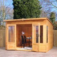 10X8 Shiplap Timber Summerhouse with Assembly Service