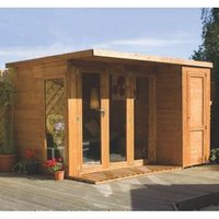 10x8 Combi Garden room Shiplap Summerhouse & store With assembly service