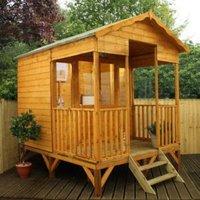 10X8 Beach Hut Shiplap Wooden Summerhouse