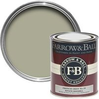 Farrow & Ball Estate Eggshell French Gray No.18 Silk Sheen Estate Eggshell Paint 750 ml