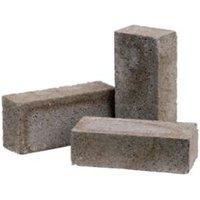 Grey Reconstituted stone Concrete common brick (H)65mm (W)103mm (L)215mm 2850g