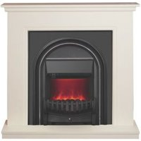 Be Modern Colville Soft white & anthracite LED Electric fire suite