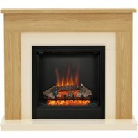 Be Modern Blakemere Oak effect Electric Fire Suite