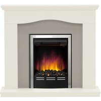 Be Modern Penelope Black LED Electric Fire Suite