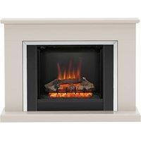 Be Modern Ashburnham Black Chrome effect Electric Fire Suite