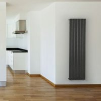 Seren Égalrad Type 10 single Designer panel radiator Gun metal  (H)1800mm (W)505mm