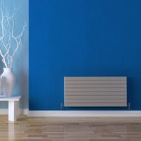 Seren Égalrad Type 21 double plus Designer panel radiator Matt silver  (H)578mm (W)600mm