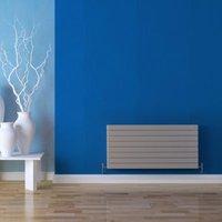 Seren Égalrad Type 21 double plus Designer panel radiator Matt silver  (H)578mm (W)1000mm