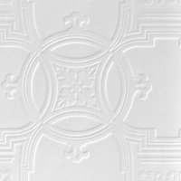 Anaglypta Luxury White Early Victorian Textured Paintable Wallpaper