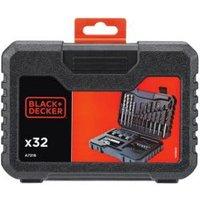 Black & Decker 4-8 mm Flat wood drill bit set 32 Pieces