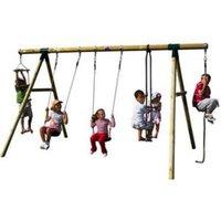 Plum Orang-Utan Wooden Swing Set