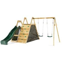 Plum Outdoor Wooden Climbing Pyramid with Swing Arm