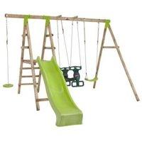 Plum Muriqui Wooden Swing Set