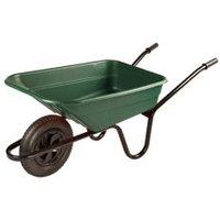 Walsall Green Plastic Heavy duty Wheelbarrow 90L