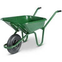Walsall Contractor builders Green Steel Wheelbarrow 90L
