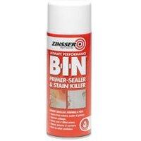 Zinsser B-I-N Off white Matt Primer & undercoat Spray paint 400ml