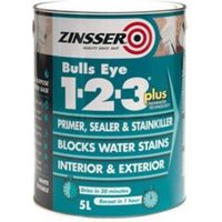 Zinsser Bulls Eye 1-2-3 White Multi-surface Primer sealant & stain block 2.5L