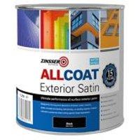 Zinsser AllCoat Black Multi-surface paint 1L