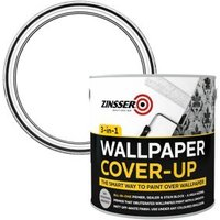 Zinsser 3-in-1 Off white Wallpaper Matt Cover-up paint 2.5