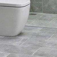 Arlington Silver Matt Marble effect Ceramic Wall & floor tile  Pack of 6  (L)498mm (W)298mm
