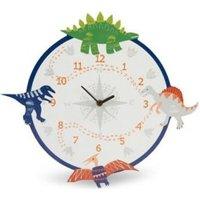 Dino doodles Dinosaur Children's Analogue clock