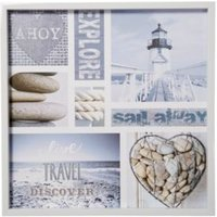 Nautical Montage Blue & White Framed Print (W)600mm (H)600mm