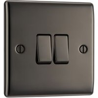 British General 10A 2-Way Double Black Nickel Light Switch