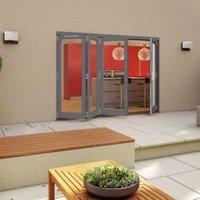 Grey Timber Glazed Folding Patio door  (H)2094mm (W)3594mm