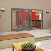 Grey Timber Glazed Patio Patio Door  (H)2094mm (W)3594mm