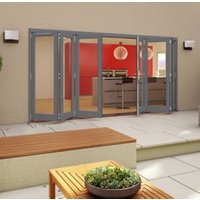Grey Timber Glazed Patio Patio Door  (H)2094mm (W)4794mm