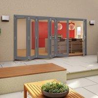 Grey Timber Glazed Patio Patio Door  (H)2094mm (W)4794mm