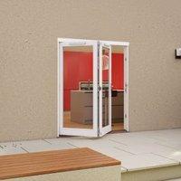 White Timber Glazed Folding Patio door  (H)2094mm (W)1794mm