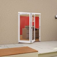 White Timber Glazed Folding Patio door  (H)2094mm (W)1794mm