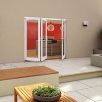 White Timber Glazed Folding Patio door  (H)2094mm (W)2094mm