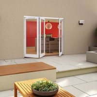White Timber Glazed Folding Patio door  (H)2094mm (W)2394mm