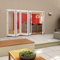 White Timber Glazed Folding Patio door  (H)2094mm (W)3594mm