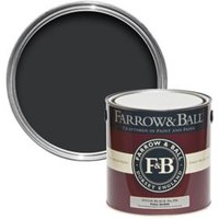 Farrow & Ball Pitch Black no.256 Gloss paint 2.5L