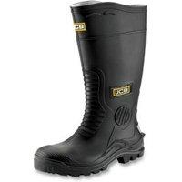JCB Hydromaster Black Safety wellingtons  Size 10