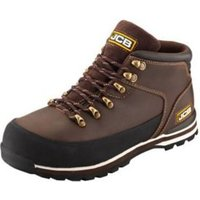JCB Brown 3CX Hiker Non-safety boots  Size 10