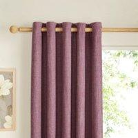 Carina Blueberry & purple Plain Lined Eyelet Curtains (W)117cm (L)137cm Pair