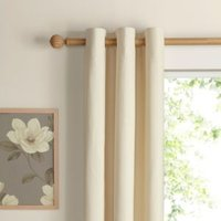 Salla Ecru Plain Woven Eyelet Lined Curtains (W)117 cm (L)137 cm