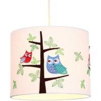 Colours Rosalba White Owl Light Shade (D)25cm.