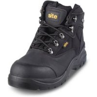 Site Onyx Black Safety boots  Size 7