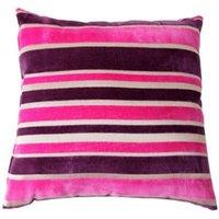 Tuberose Striped Cream  pink & purple Cushion