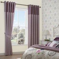 Arcadia Clematis Velvet header Faux silk Eyelet Lined Curtains (W)228 cm (L)228 cm