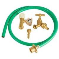 Plumbsure Brass and PVC Garden tap kit  Pack