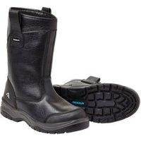 Rigour Black Rigger Boots  Size 8